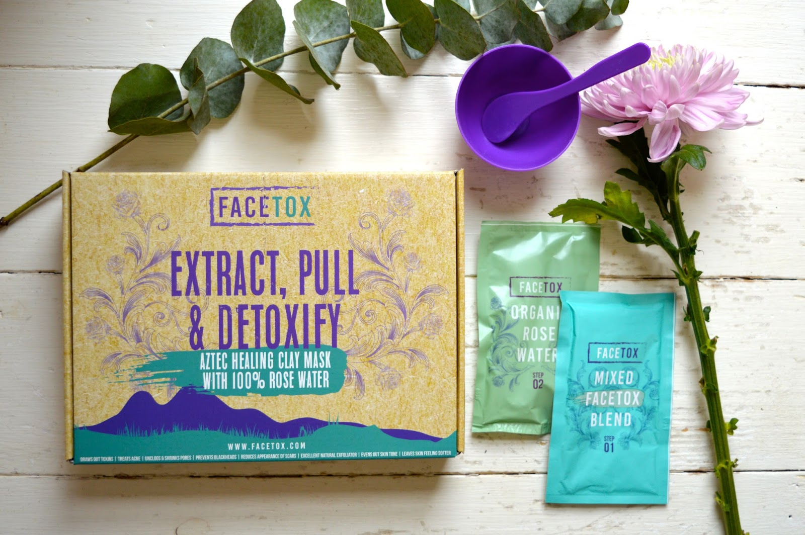Facetox Aztec Clay Mask Review, beauty bloggers, UK beauty blog, organic face masks