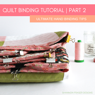Quilting Binding Tutorial Part 2 | Best of 2019 | Shannon Fraser Designs #handbinding
