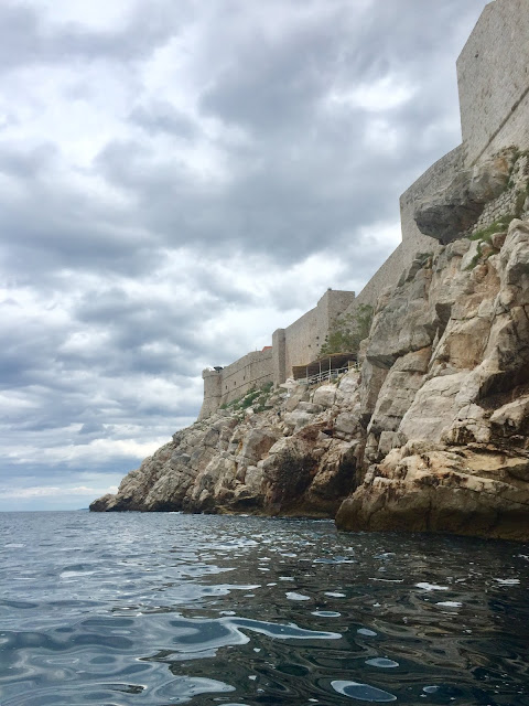 Sea kayaking around the city walls of Dubrovnik, Croatia