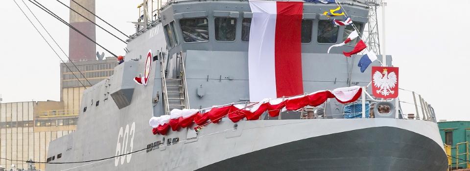 У Польщі спустила на воду два нових судна для ВМС