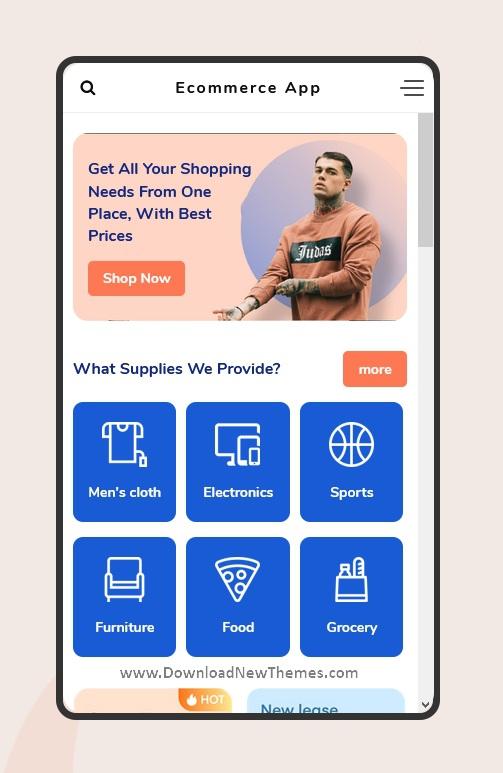 Multipurpose eCommerce Mobile Template