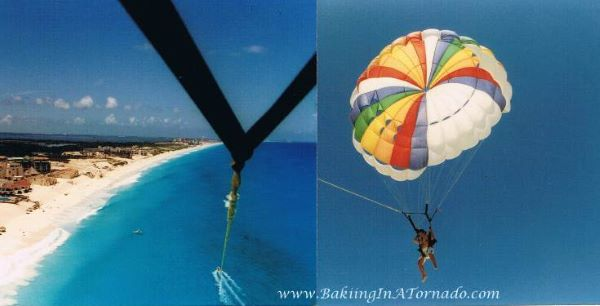 Parasailing in Cancun | Pictures property of www.BakingInATornado.com