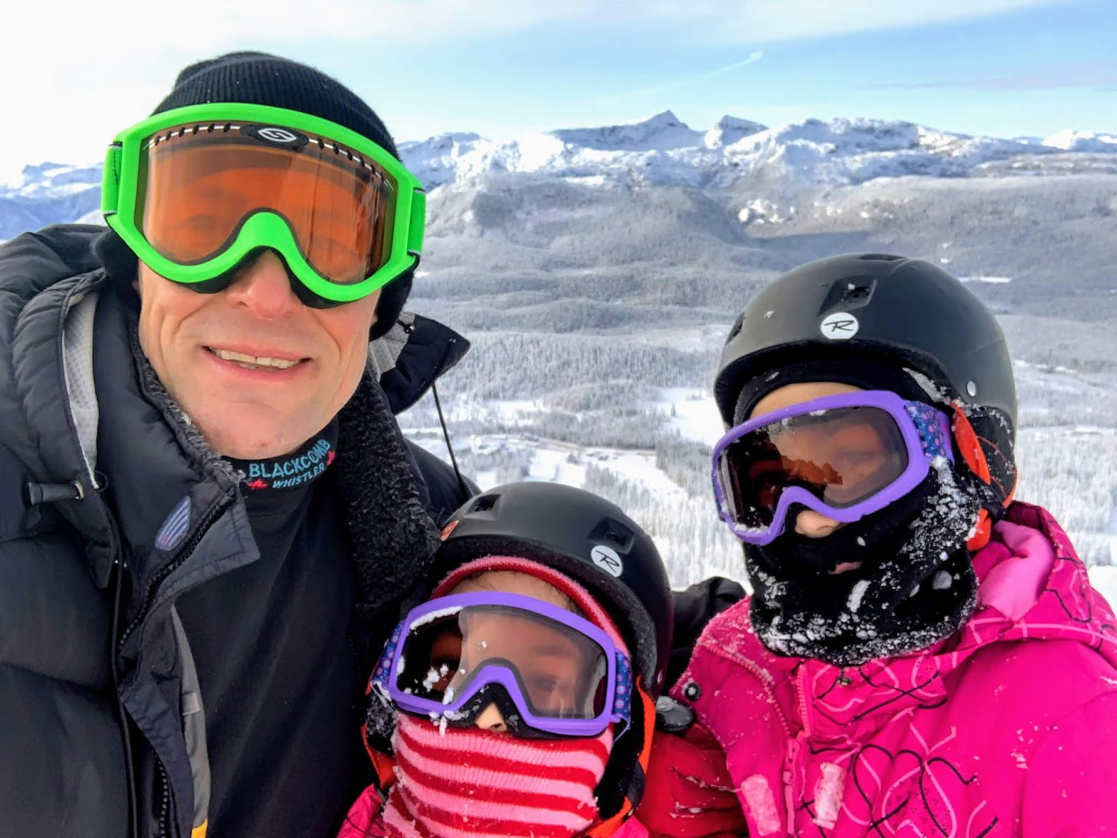 My husband and our two daughters went Skiing.