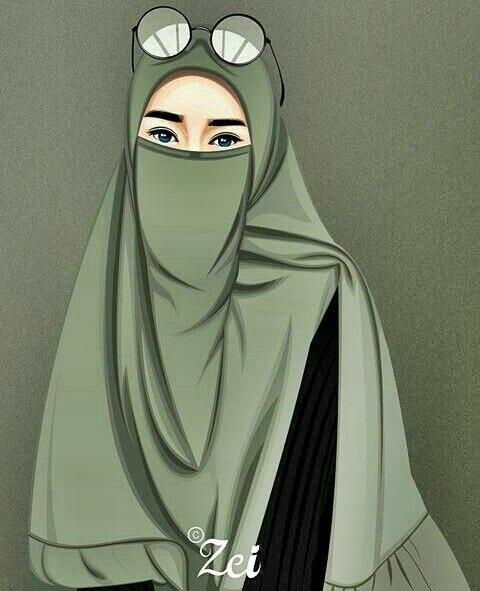 Gambar Kartun Animasi Muslimah Keren Cantik Lucu Dan Sedih Terbaru Kanalmu