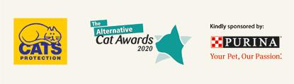 Cats Protection, Alternative Cat Awards and Purina logos
