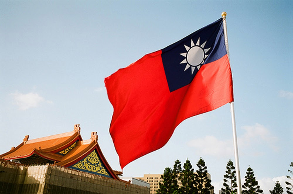 Image result for taiwan with flag