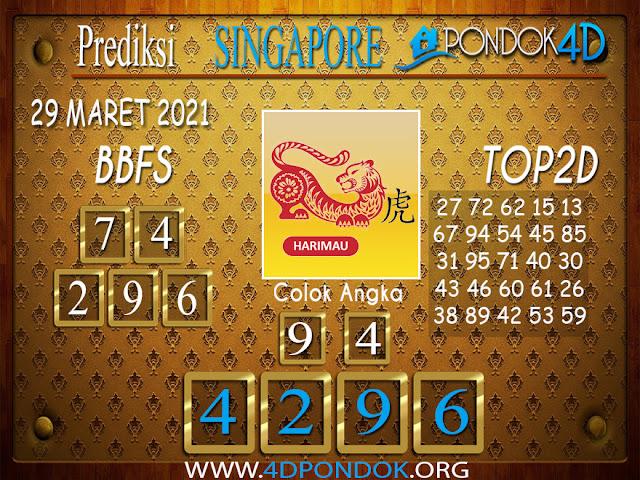 Prediksi Togel SINGAPORE PONDOK4D 29 MARET 2021