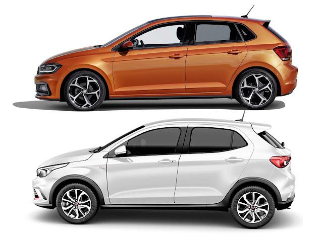 Novo VW Polo 2018 x Fiat Argo