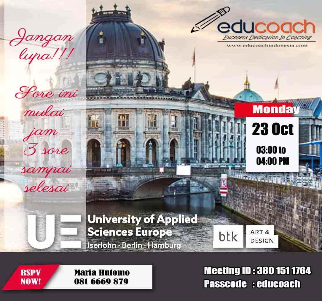 Info Studi Lanjut di Jerman dan Konsultasi Pendidikan