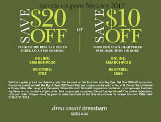 Dress Barn coupons february