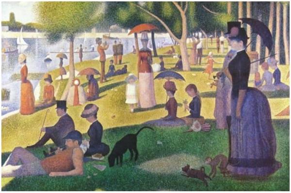 Georges Seurat. Uma Tarde de Dominga na Grande-Jatte