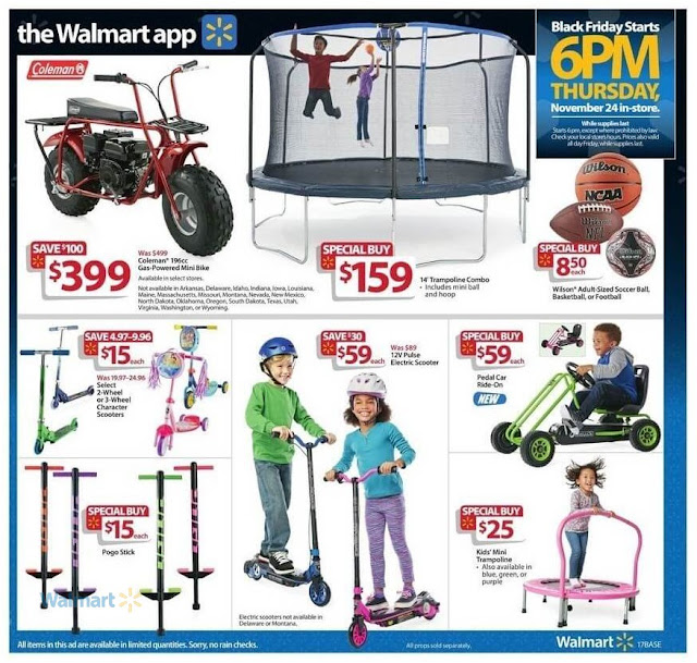 Black Friday Walmart Deals Kids Electric Scooter, 2 Wheel Character Scooter and Kids Pedal Cars