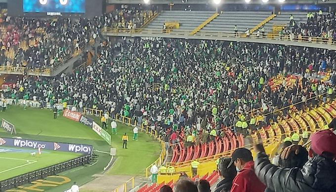 Atlético Nacional se pronunció tras la 'Batalla campal' en El Campín: También Santa Fe, que sufrió brutal agresión contra uno de sus hinchas