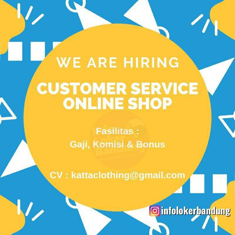 Lowongan Kerja Customer Service Online Shop Katta Clothing Bandung Juli 2019