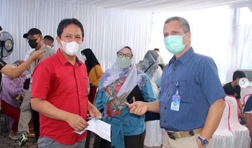 Begini Vaksin ke-2 Keluarga Besar Perumda Air Minum Kota Padang