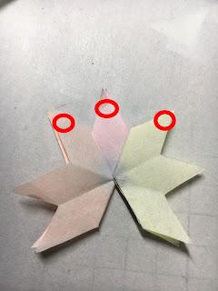 影織の切り絵ポップアップカード作り方⑫