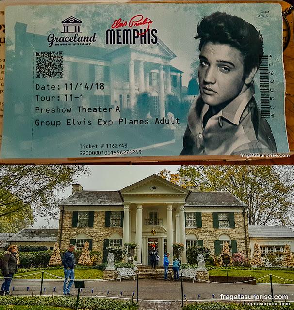 Ingresso para Graceland, a casa de Elvis Presley em Memphis