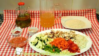Receta fácil de arroz con verduras