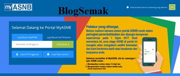 Cara SEMAK ASB Online Melalui MyASNB