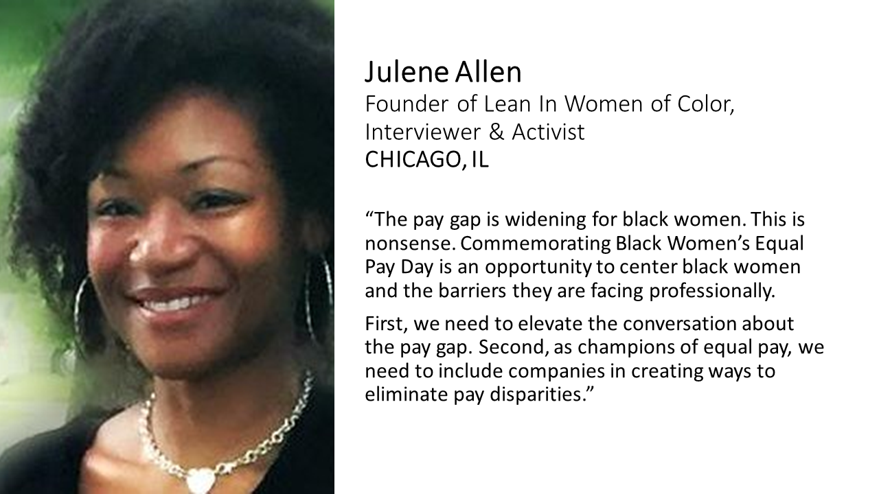 Meet The Team and Learn What They Have To Say About Black Women's Equal Pay!