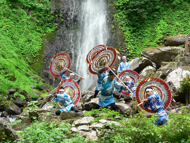 Ritual Dance at Amataki Waterfall, Kokufu, Tottori