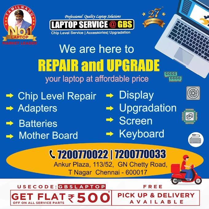 Laptop Repair Upgrade Service T Nagar Chennai