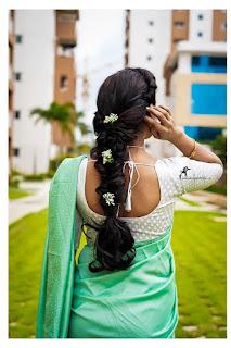 TV Actress Anshu Reddy Beautiful Saree Stills