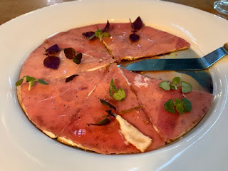 Tuna Pizza, Akira Back restaurant, JW Marriott Singapore Beach Road, 2021