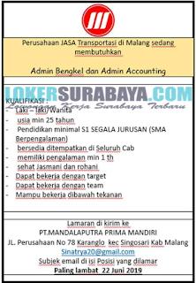 Lowongan Kerja di PT. Mandalaputra Prima Mandiri Kabupaten Malang Terbaru Juni 2019