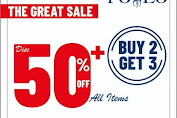 Promo POLO Ralph Lauren The Great Sale Diskon 50% All Items + Buy 2 Get 3