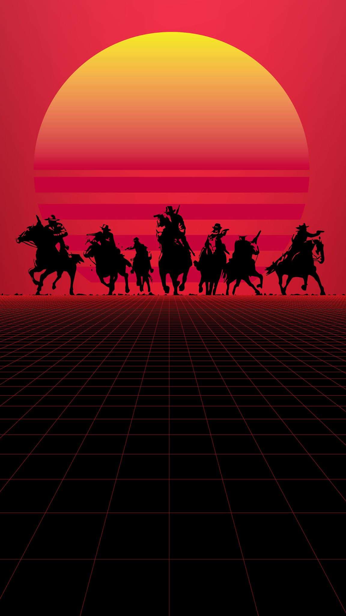 red dead redemption minimal mobile wallpaper 4k