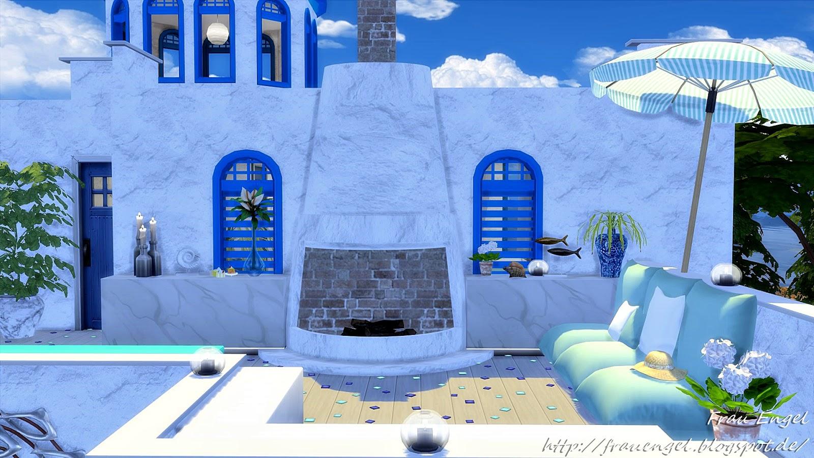my sims 4 blog  villa santorini by frau engel