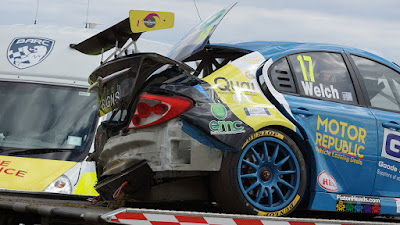 Drivers & Cameraman Escape Injury Following Race Three Crash