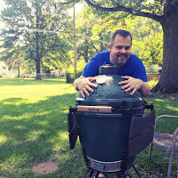 Picture of me with Big Green Egg