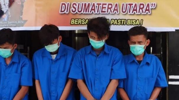 Polisi Tangkap Empat Tersangka Kasus Rudapaksa Siswi SMK di Toba