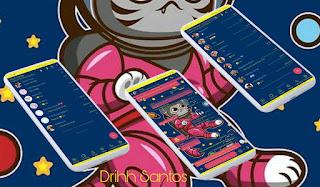 Cat Espacial Theme For YOWhatsApp & Fouad WhatsApp By Driih Santos