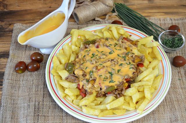 mexico recetas, recetas mejicanas, refrito de carne y verdura con salsa de queso, salsa de queso, salsa de queso cheddar, salsa de queso cheddar para nachos, salsas para dipear, las delicias de mayte,