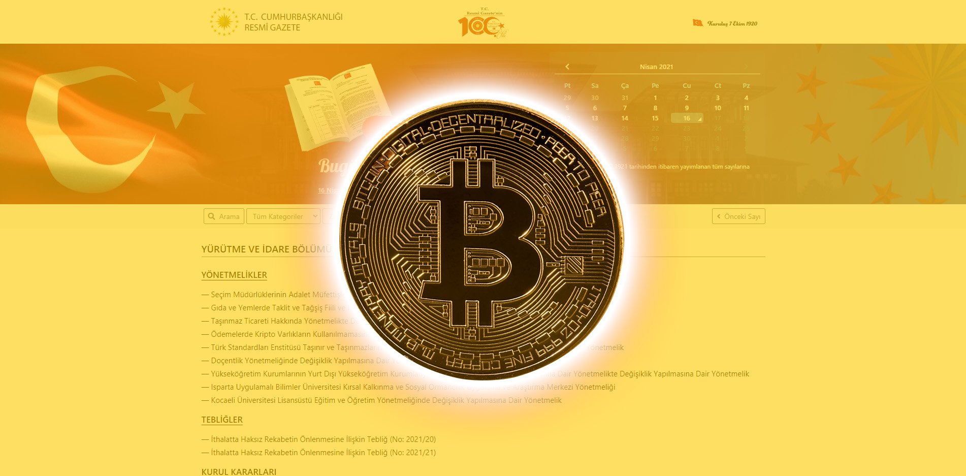 resmi gazete kripto varlık