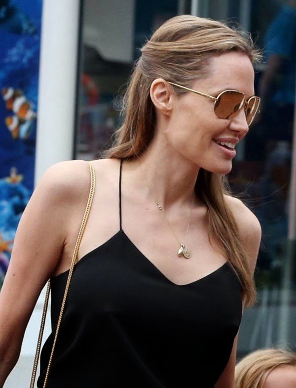 Angelina Jolies Perky Nipples New Boobs | Celebrities Nude