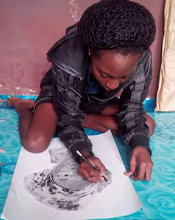 200 Level OOU Lady Melting Hearts With Her Creative Arts, Dame'art