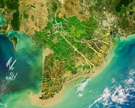 HÌnh ảnh kênh rạch chằng chịt giúp cho miền Tây Nam Bộ xanh tươi trù phú