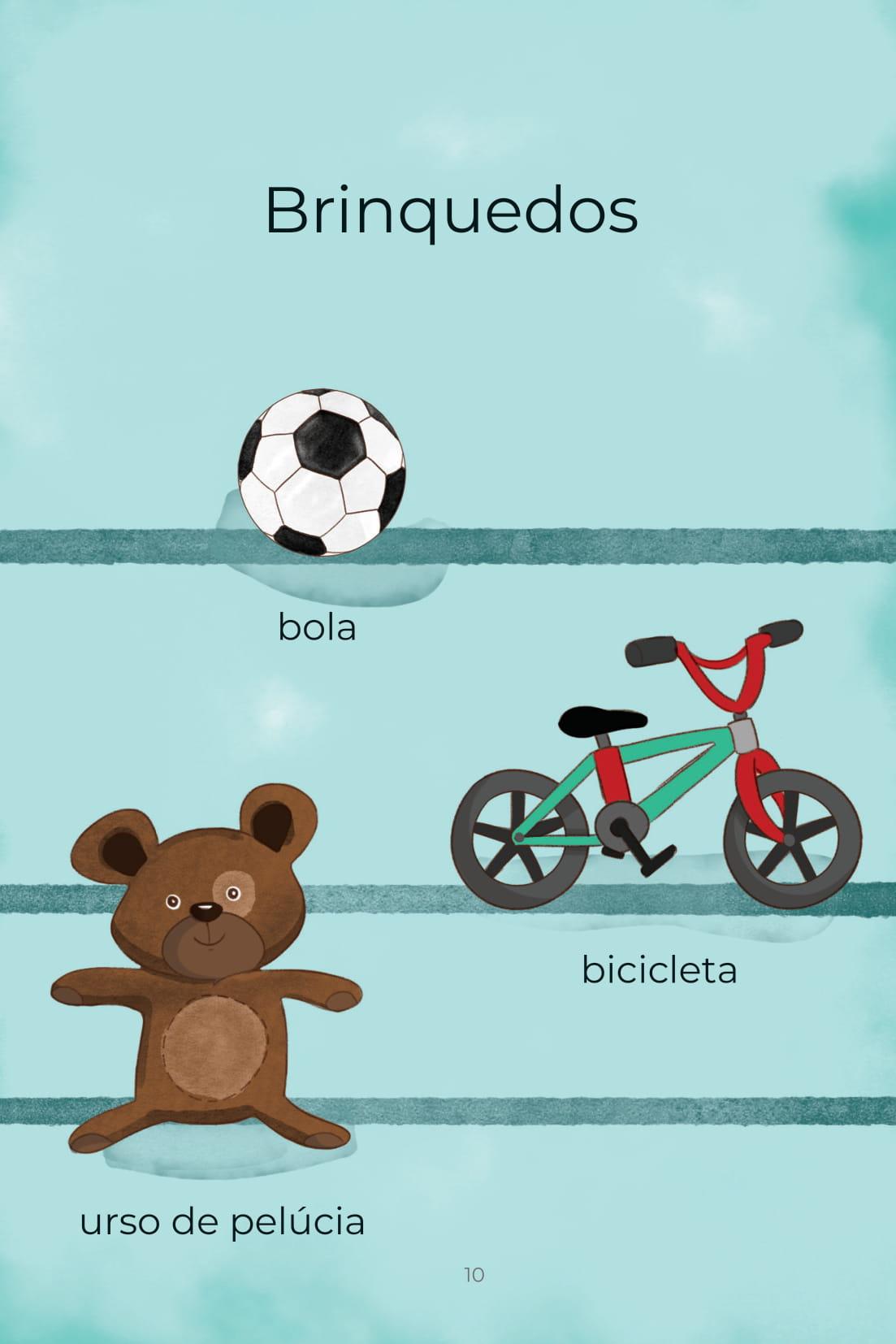 Brinquedos bola bicicleta urso de pelúcia
