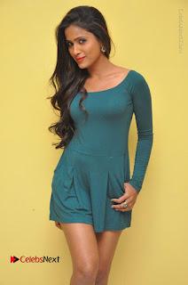 Telugu Actress Prasanthi Stills in Green Short Dress at Swachh Hyderabad Cricket Press Meet  0007.JPG