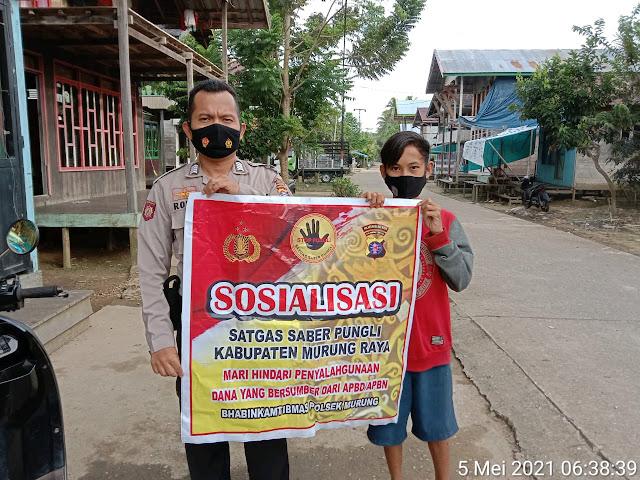 Polsek Murung Gelar Sosialisasi Saber Pungli Di Desa Muara Sumpoi