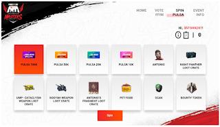 Event FFIM Web in-game Free Fire di ffim.ff.garena dapatkan Hadiah Kode Redem dan Vote Event