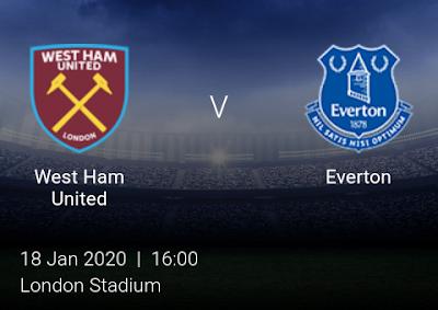 LIVE MATCH: West Ham United Vs Everton Premier League 18/01/2020