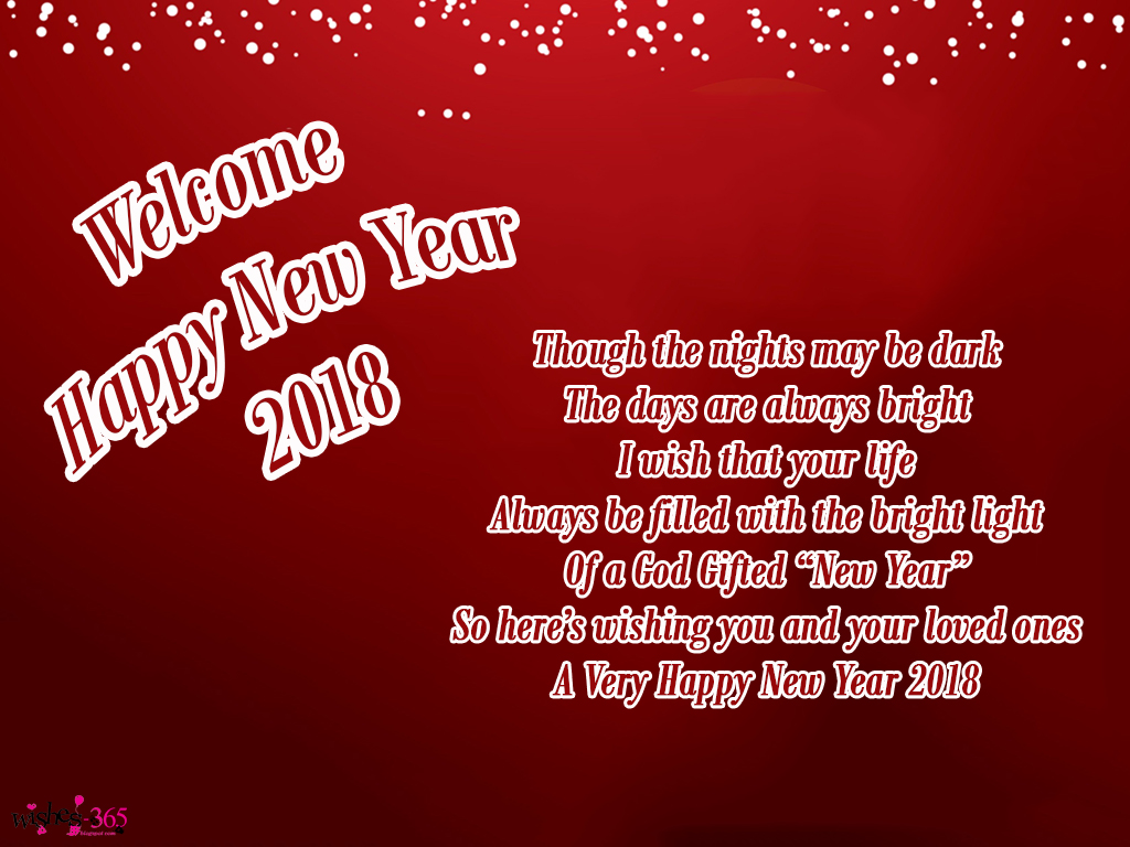 Poetry And Worldwide Wishes Happy New Year Greetings Cards 2018