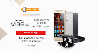 Lenovo Vibe k5 amazon flash Sale