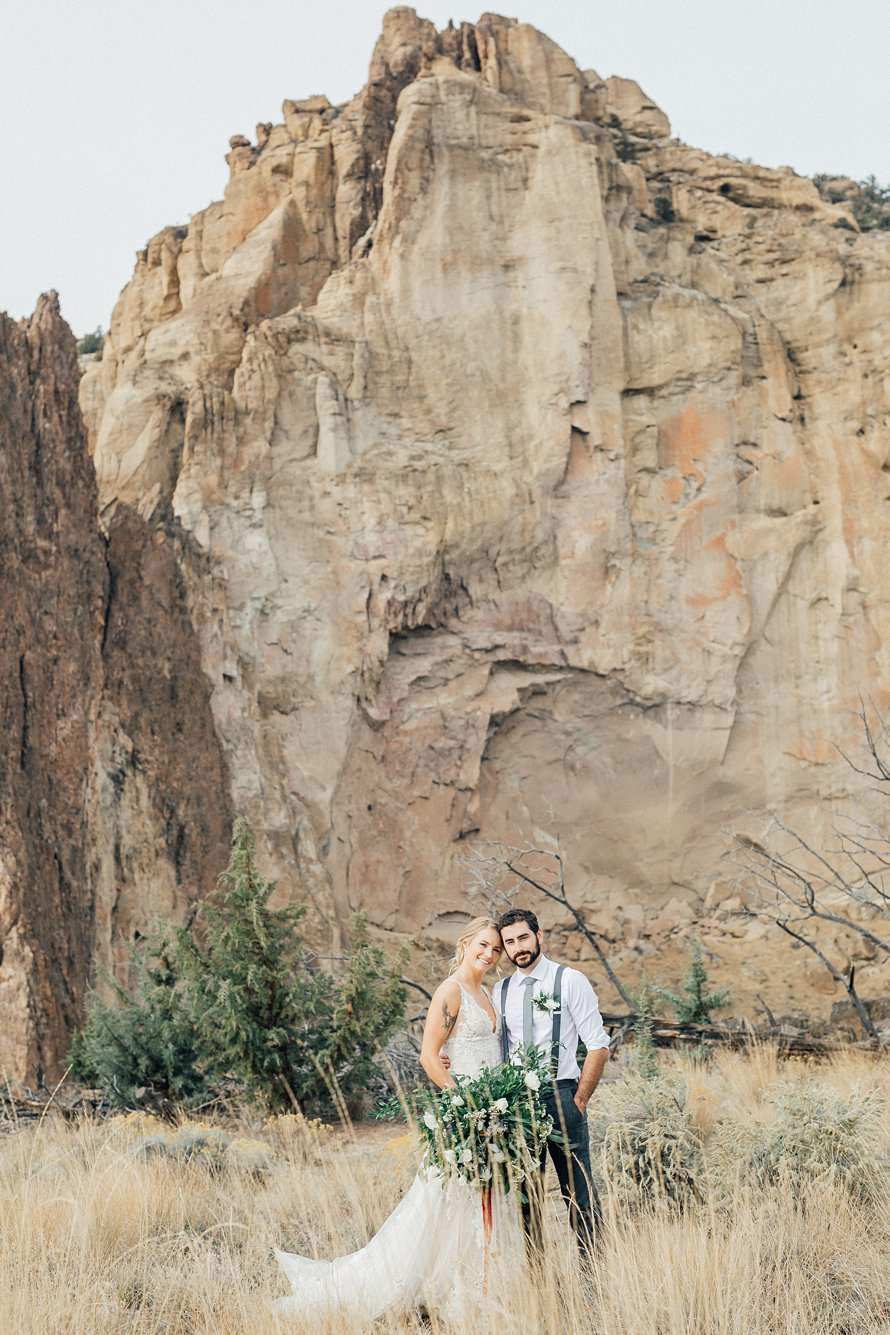 Smith Rock State Park-PNW Elopement-Fall Wedding-Bend Wedding Photographers-Something Minted Photography