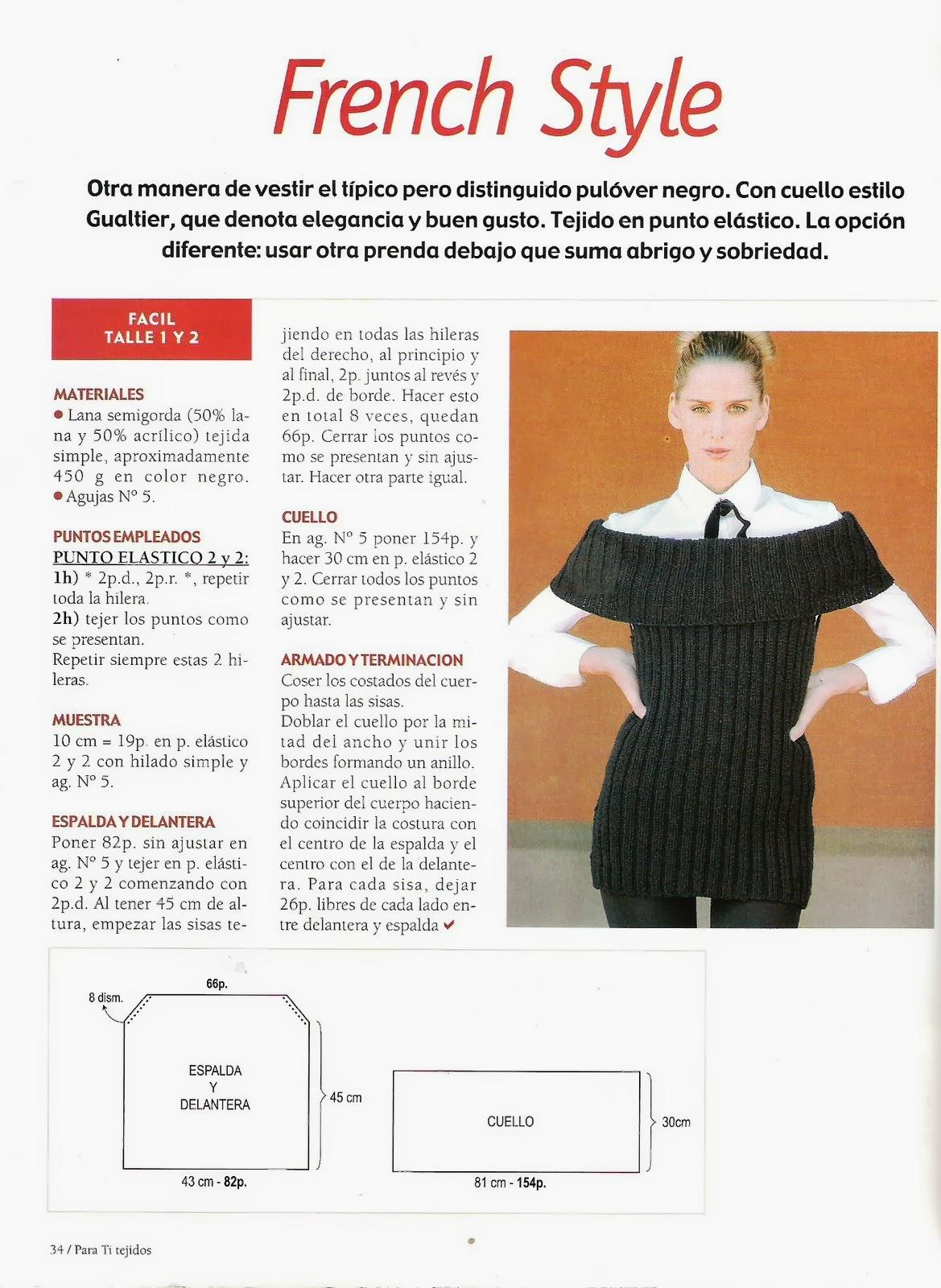 Chaleco Escote Bote Tricot Instrucciones